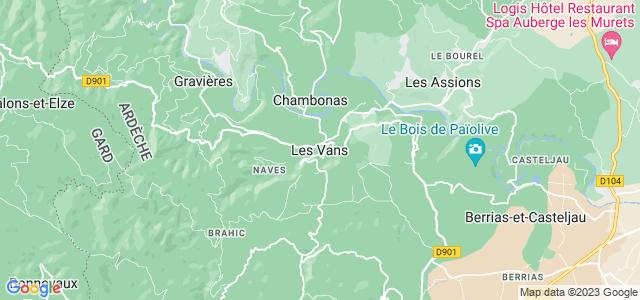 les vans france map