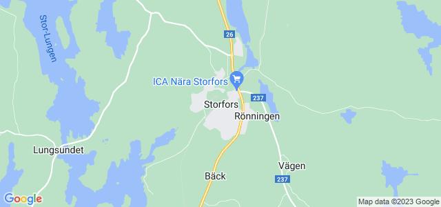 Storfors Kommun Region Map: Asviken Vagen | Sweden