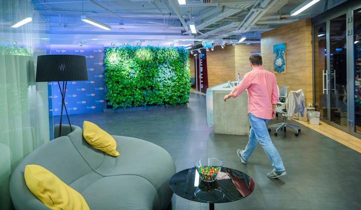 Московский офис Баду - просторный, стильный, яркий и очень комфортный.