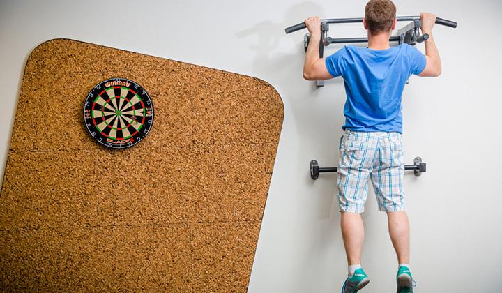 В перерывах между работой сотрудники Badoo могут заняться спортом, не покидая офиса.